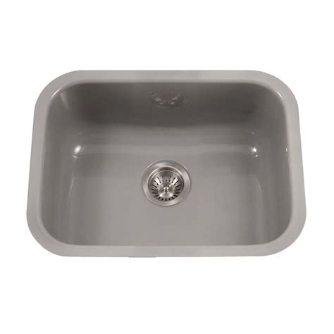 porcelain undermount kitchen sink houzer porcela series undermount porcelain enamel steel 23 in single bowl kitchen sink in slate