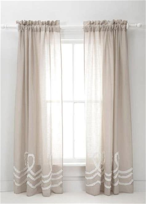 pine cone hill curtains pine cone hill ruched linen platinum white window panel