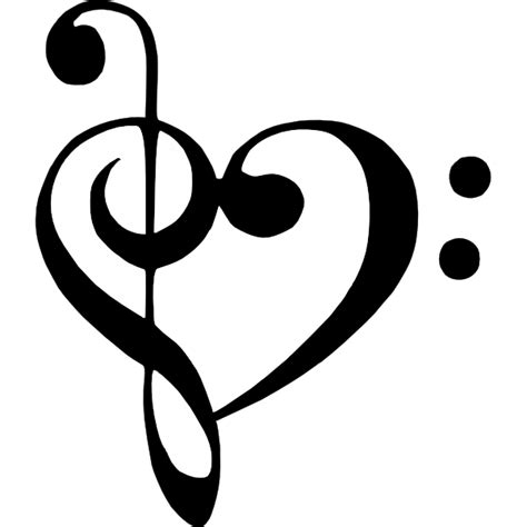 bass clef treble clef heart clip art at clker com vector