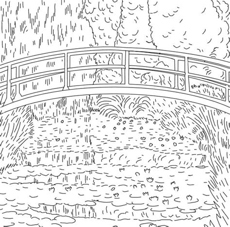 coloring pages monet s water lilies free coloring pages of monet water lilies