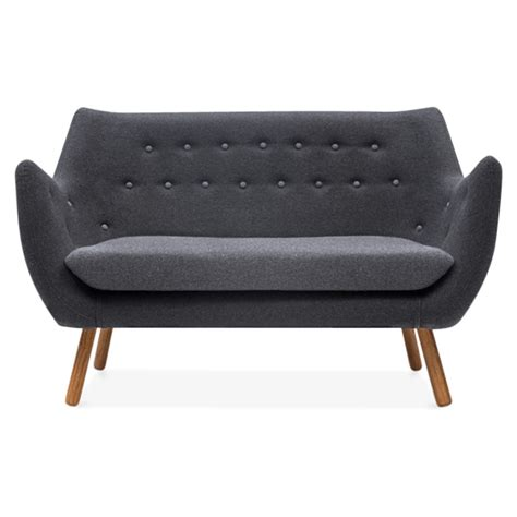 sofa buttons cult living dark grey poet 2 seater sofa with grey buttons