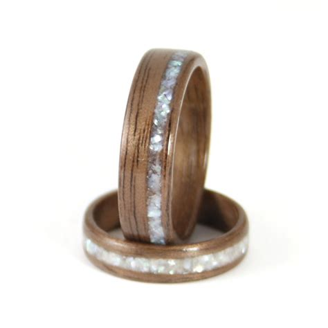 Wooden Wedding Rings Our One 5 by Walnut Wooden Wedding Rings Harestree
