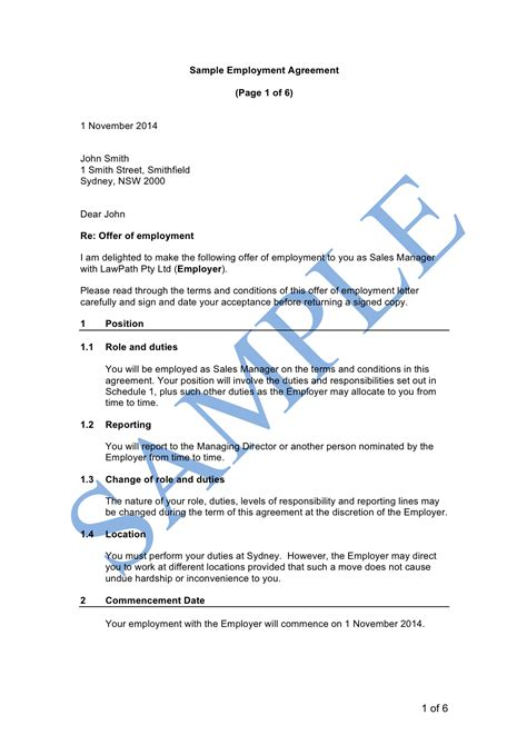 time employment contract template time employment agreement sle lawpath