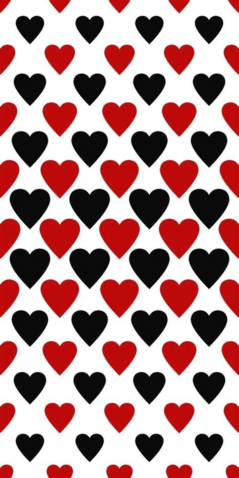 black heart pattern seamless red and black heart pattern background for