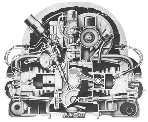air cooled vw 1600 engine diagram vw karmann ghia engine