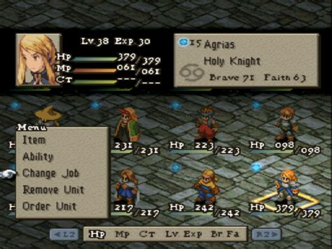 emuparadise final fantasy tactics final fantasy tactics ntsc u iso