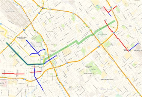 san jose bike map san jose proposes better bikeways east and west of