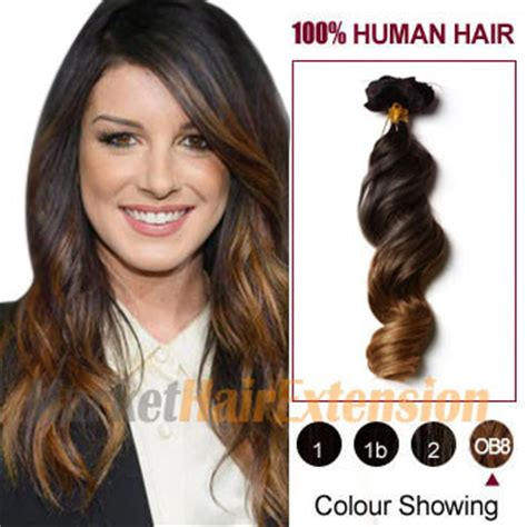 808 hair extensions wholesale 20 quot two colors 2 and 27 wavy ombre indian remy clip in
