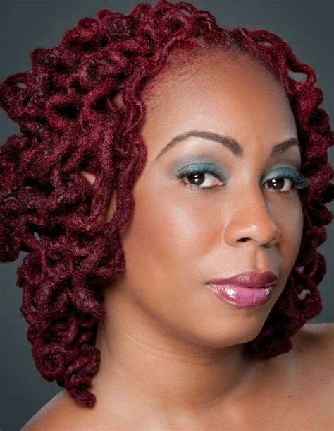 natural locs styles red curly locs by de lux gallery black women natural