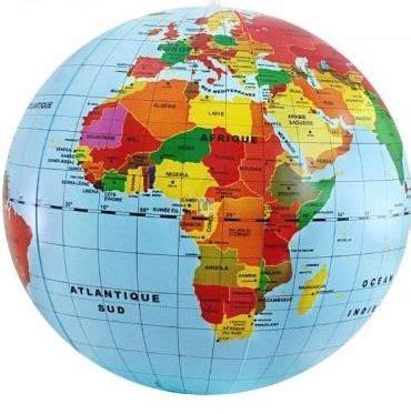 Monde Maxy maxi globe gonflable monde politique en fran 231 ais 50 cm