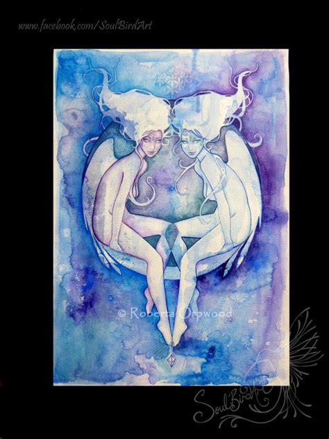 Canvas Decor Gemini Zodiac gemini zodiac goddess sign air elementals