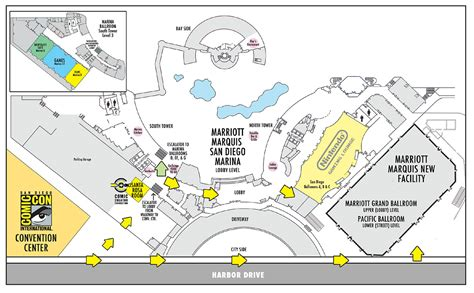 sdcc map image sdcc 2016 marriott marquis marina hotel map