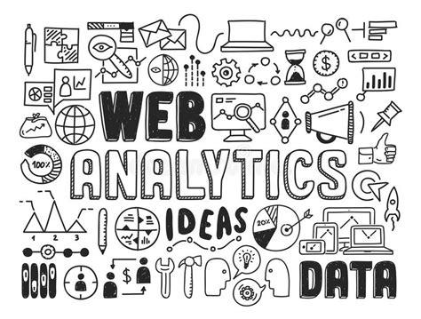 doodlebug information web analytics doodle elements stock vector image 34326331