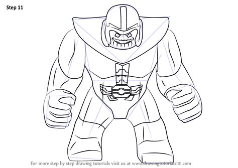 marvel thanos coloring pages step by step how to draw lego thanos drawingtutorials101 com