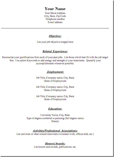 simple resume setup 3个免费下载简历模板的网站 译文75 生活志