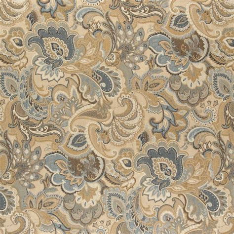 abstract upholstery fabric a0025a gold blue and green abstract paisley upholstery