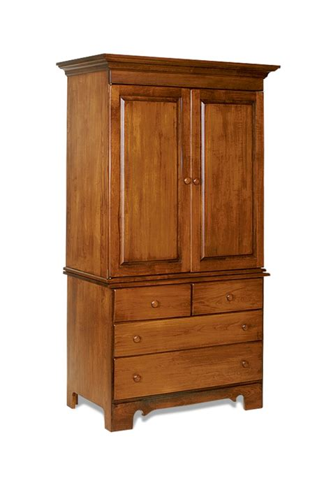 Wood Armoires by Amish Made Shaker Style Armoire 2828
