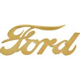 Ford Script Ford Ford Emblem Ford Script Die Cut Brass Macs