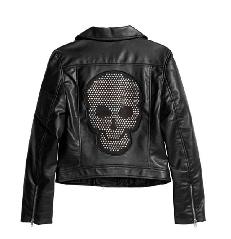 Victory Motorrad Lederjacke by Cool Jackets Coats Skull Patch Pu Leather Motorcycle