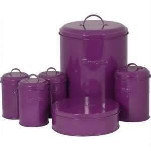 purple tin canister purple kitchen