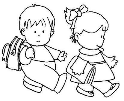 Imagenes Niños Yendo Ala Escuela | dibujos de ni 241 os yendo a la escuela para colorear