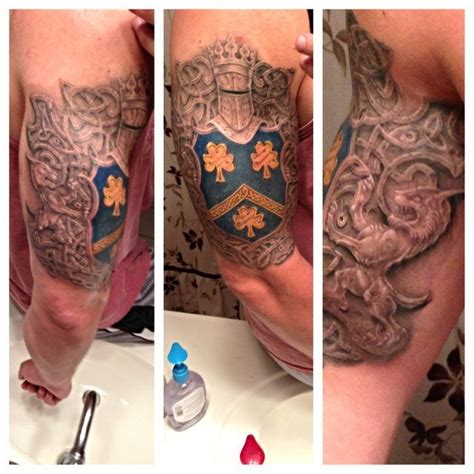 family crest tattoos update completed family crest celtic knot