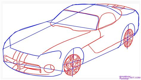 draw a car how to draw a dodge viper step by step cars draw cars