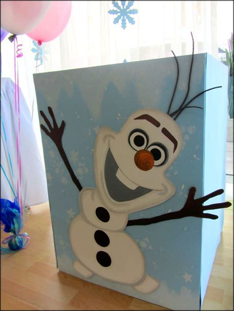 frozen party decoration olaf gift box office supplies for