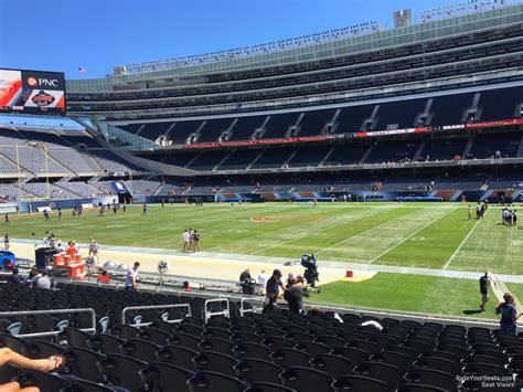 section 105 soldier field lower level sideline soldier field football seating