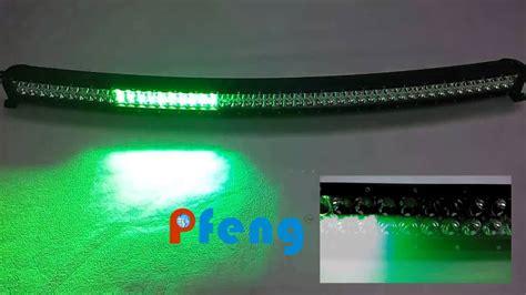 white led light bar white and green strobe led light bar curved