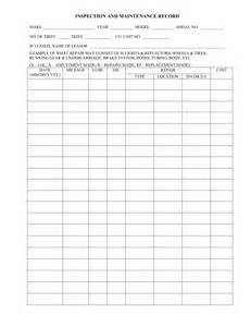 sample form inspection and maintenance record