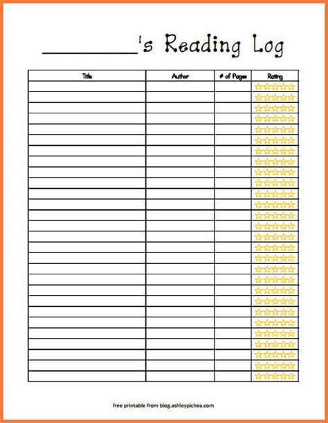 reading log cover printable printable reading log bio letter sle