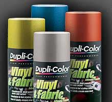duplicolor upholstery paint dupli color vinyl and fabric spray paints coatings