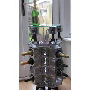 v8 tisch weinregal beistelltisch couchtisch tisch v8 motorblock