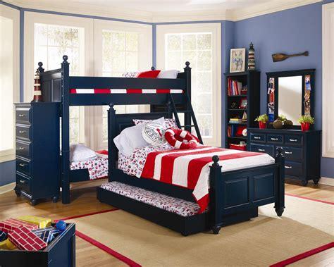 madison bunk bed  indigo blue bedroom set  lang