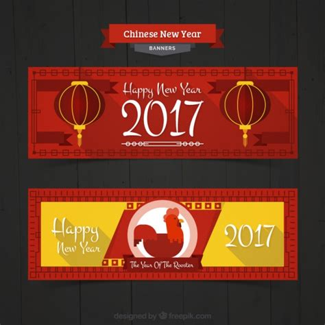 free vector new year banner new year banners with yellow details vector