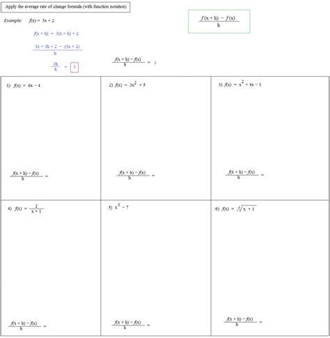 Average Rate Of Change Worksheet by Average Rate Of Change Worksheet Algebra 1 Deployday