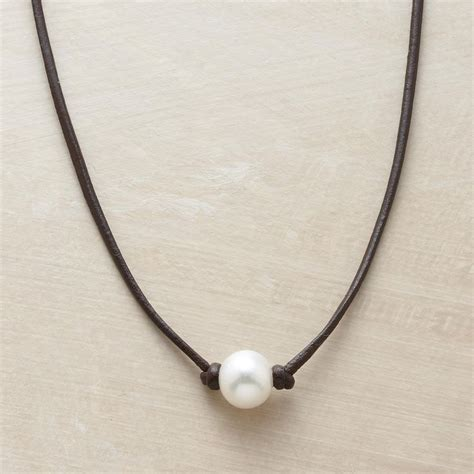 leather and pearl jewelry best 25 leather pearl necklace ideas on diy necklace necklace ideas and pearl