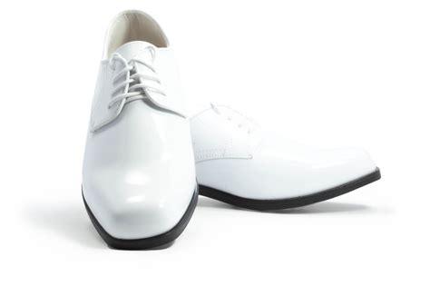 revolution gloss white tuxedo shoes