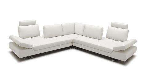 Canape D Angle Blanc Cuir