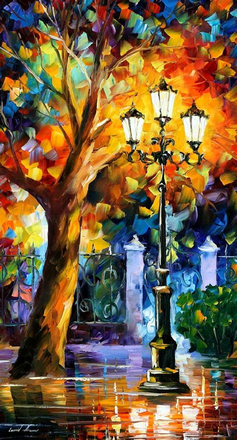 ROMANTIC AURA — PALETTE KNIFE Oil Painting On Canvas By ... Famous Acrylic Painting