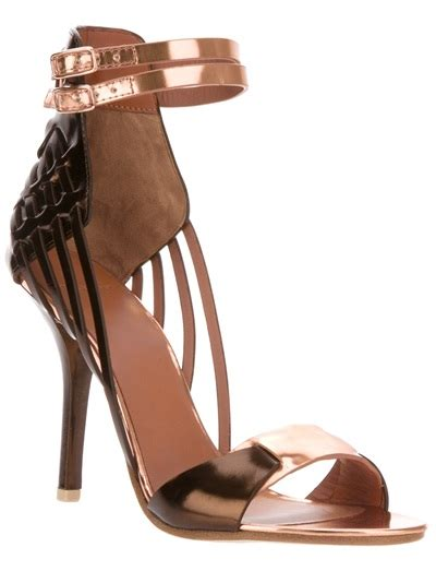 gold tone sandals givenchy gold tone sandal in brown gold lyst