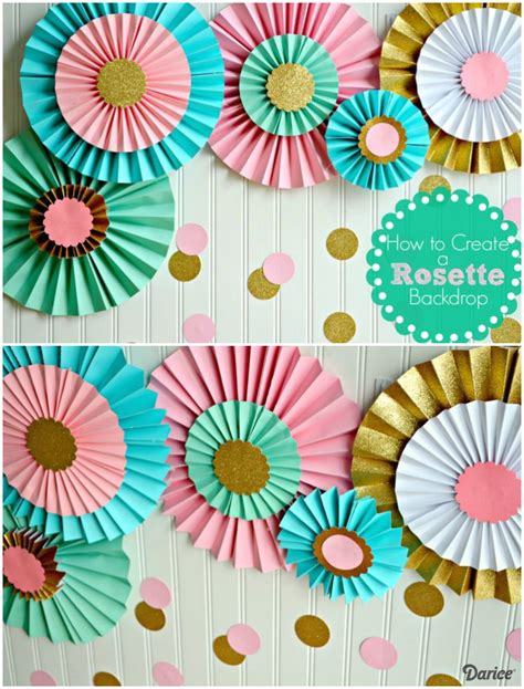 Papier Decoration by How To Make Paper Rosettes Birthday Backdrop Darice