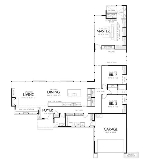 48 square feet modern style house plan 3 beds 2 5 baths 2498 sq ft plan