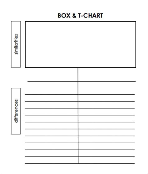 t chart template for word sle t chart template 7 documents in pdf word