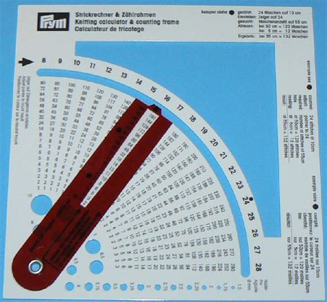 knitting yarn calculator prym knitting calculator counting frame 10cm tension