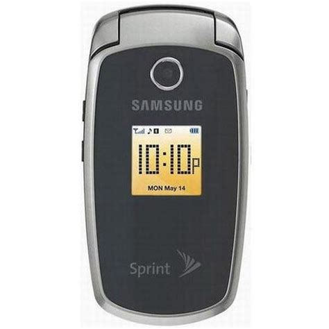 samsung sph m300 gray sprint flip phone clean esn fully tested w warranty
