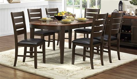homelegance grunwald dining set brown 5127 dining