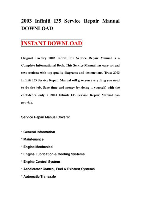 online service manuals 2001 infiniti i security system service manual how to download repair manuals 2001 infiniti i on board diagnostic system