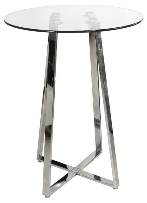 bar table glass top glass top round chrome bar table mulberry moon